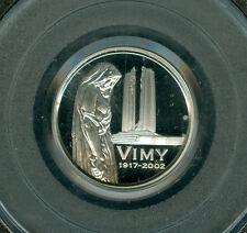 2002 CANADA SILVER 5 CENTS VIMY PCGS PR69 ULTRA HEAVY CAMEO FINEST GRADED *