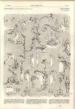 1862 Asas cartela Tazas Candelabros Mesas De Florero fragmentos Cardillac obra de arte