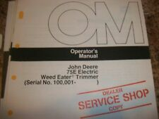 John Deere Operator'S Manual 75E Electric Weed Eater Trimmer