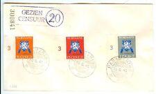 SURINAME 1941-8-30 FDC LUXE  =GEZIEN CENSUUR 20= PR