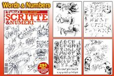 LETTERING & SCRIPT Tattoo Flash Design Book 66-Pages Cursive Writing Art Supply
