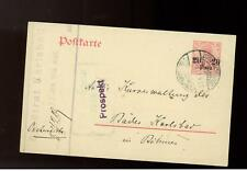 1910 German Post Office Constantinople Turkey PS cover Karlsbad