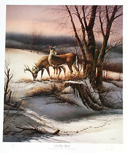 On The Alert by Terry Redlin Signed Limited Edition 960 Paper 20.5x17.5 NEW RARE