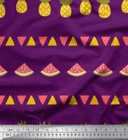 Soimoi Stoff Dreieck, Ananas und Wassermelone Obst Stoff bedrucken-FT-656G