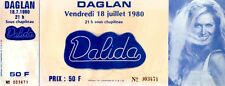 Billet de concert DALIDA 18 juillet 1980