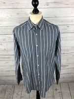 MASSIMO DUTTI Shirt - Large - Striped - Great Condition - Men's