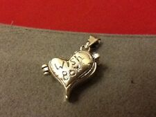 "Adorable Silver WISH BOX Charm Opens Mechanical Locket Charm Pendant ~ 1"" x 3/4"""