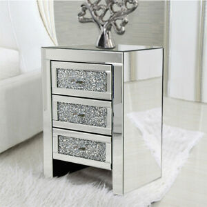 Mirrored Bedside Table For Sale In Stock Ebay