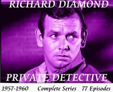 RICHARD DIAMOND, PRIVATE DETECTIVE 13 DVD Complete Series 77 Episodes