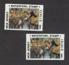 NJ7 & NJ7A - New Jersey State Duck Stamp. Res & Non Res Singles  MNH. OG.