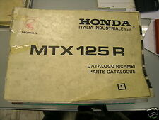 BB 18KS30IT Catalogue pièce de rechange HONDA MTX 125 R