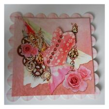 PK 2 PINK GIRLY CORSET STEAMPUNK EMBELLISHMENT TOPPERS FOR CARDS OR CRAFTS