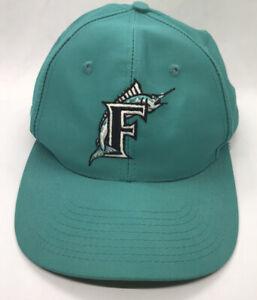 Florida Marlins Hat Cap Fish Snapback MLB Baseball Clark Sportswear Teal Vtg