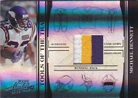 MICHAEL BENNETT 2006 ABSOLUTE TOTT PRIME 3 COLOR JERSEY PATCH #07/50 FB1795