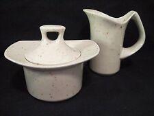 Mikasa Ceramic Creamer & Sugar Bowl w/Lid, HABITAT PB102 Earthstone**RETIRED**