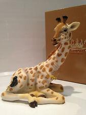 Sitting Baby Giraffe Ornament Figurine Figure Gift Present