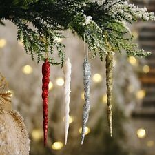 Christmas Ice Xmas Tree Hanging Ornament Fake Icicle Party Christmas New Year