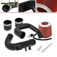 For 04-09 Mazda 3 Cold Air Intake System Black Air Filter Red