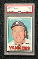 New York Yankees Mickey Mantle 1967 Topps #150 PSA 7 Near Mint