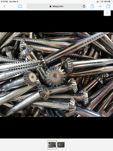 BOX OF 40 COTTON GIN SPIKES (ROUND HEAD) Land Surveying Equipment