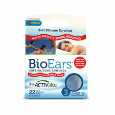 BioEars Soft Silicone Earplugs With Activaloe - 3 Pair