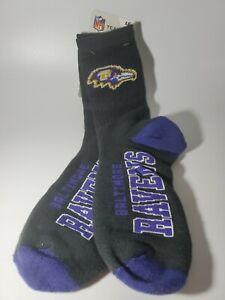 Baltimore Ravens NFL Men Crew Dress Socks Fits Large 10-13 New