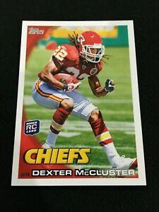 DEXTER MCCLUSTER ROOKIE TOPPS 2010 KC CHIEFS RC FOOTBALL CARD