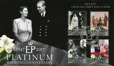 Niue 2017 FDC Queen Elizabeth II Platinum Wedding 4v Set Cover Royalty Stamps
