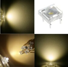 50 diodi led PIRANHA SUPERFLUX 5 mm bianco caldo resistenze NON INCLUSE