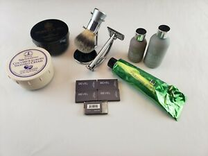 Bevel Safety Razor Kit With Premium Shaving Cream