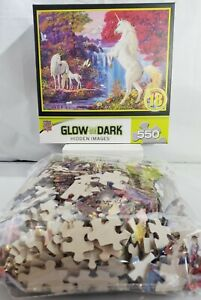 """Master Pieces Glow In The Dark DREAM WORLD Hidden Images 550 pc Puzzle 24""""x18"""""""