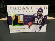National Treasures Treasured Game Worn Jersey Vikings Chris Carter 07/10  2015