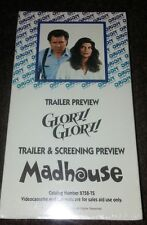 New Rare Promo Trailer Screener Glory Glory + Madhouse 1990 VHS Combo Freeship