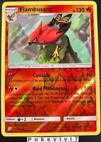 Carte Pokemon FLAMBUSARD 32/236 Rare REVERSE Soleil et Lune 11 SL11 FR NEUF