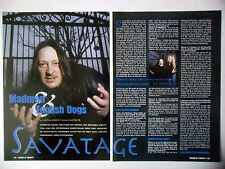 COUPURE DE PRESSE-CLIPPING :  SAVATAGE [2pages] 2001 Jon Oliva,Poets And Madmen