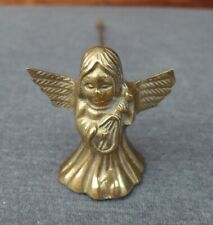 Vintage Solid Brass Victorian Angel Christmas Taper Candlestick Candle Snuffer