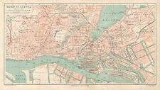 Hamburg Altona  Stadtplan Umgebungsplan Alster Elbe St. Pauli Register Bauten