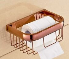 Rose Gold Copper Brass Bathroom Wall Mounted Toilet Paper Roll Holder fba536