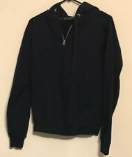 Fruit Of The Loom Sweatshirt Hoodie Navy Blue  Zip Long Sleeve Small