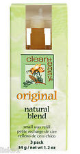 clean + easy 41633 SMALL Wax Refill Original Natural Blend 3 Count Pack