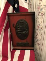 Collectable Vintage  Fire Mark Plaque Made By Walter E. Lee.