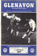 1989/90 Glenavon v Linfield - Irish League - 24th Mar - Vol 8 No 23