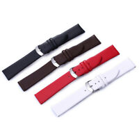 Calf Genuine Leather Watch Band Pin Buckle Belt Watch Strap Thin Soft 8-22mm