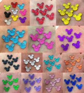DIY 40-160pcs Cute Mickey's DIY Flat Back Resin Buttons Scrapbooking,crafts