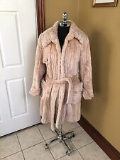 ZUKI MADE IN CANADA CASHMERE COLORED SHEARED BEAVER FUR COAT JACKET STROLLER ML