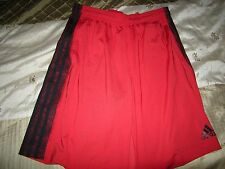 Brand New Mens Red & Black Adidas Shorts, Size M