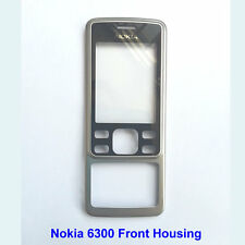 100% Genuine Nokia 6300 Front with Lens Panel Fascia Housing - Black.Silver