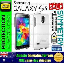 OtterBox Otter Symmetry Heavy Duty Tough White Grey Case Cover Samsung Galaxy S5