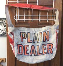 Rare Vintage ~ THE CLEVELAND PLAIN DEALER Paperboy Canvas Newspaper Delivery Bag