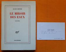 ROGER GRENIER LES MIROIRS DES EAUX Édition originale 1/25 vélin NRF Gallimard